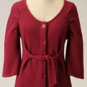 LONG Tabitha Sweater Burgundy